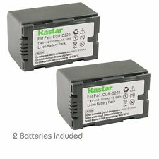 2x Kastar Battery for Panasonic CGR-D16 AG-EZ50U AG-HVX200 AJ-PCS060G DZ-MX5000