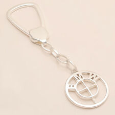 BMW Car logo Key Chain 925 Sterling Silver Unisex Christmas Fine Jewelry Gifts
