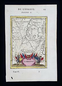 1683 A.M. MALLET: France, Lorraine, Metz, Gaule, Meuse, Moselle, Vosges...