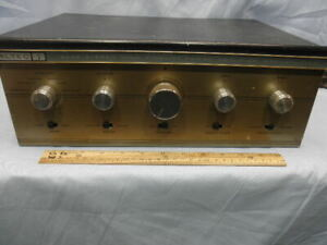 1959 ALTEC 353A Stereo Integrated Amplifier 6L6GC Peerless Transformers-Serviced