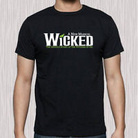 New WICKED Broadway Musical Show Logo Men's Black T-Shirt Size S to 3XL