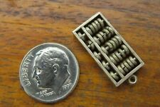 Vintage sterling silver CHINESE ABACUS COUNTING FRAME MATH MOVABLE TEACHER charm