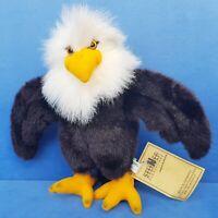 STEINER VOGEL ADLER STOFFTIER 28 CM BIRD EAGLE KUSCHELTIER  HAND GEFERTIGT