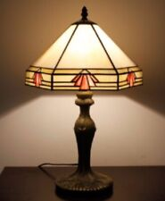 Tiffany Style Table Lamp Stained Glass Handcrafted 12inch Desk Light Shade Lamps