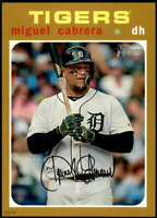 Miguel Cabrera 2020 Topps Heritage 5x7 Gold #41 /10 Tigers