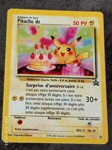 POKEMON anniversaire de PIKACHU 24 VF HOLO No 25 ultra rare promo 1995-2001