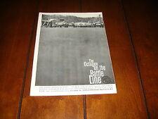 1960 MG A SPORTS RACE CAR LIME ROCK ON THE BATTLE LINE   ***ORIGINAL  AD***