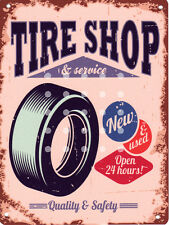 TIRE SHOP(AMERICAN) GARAGE  METAL SIGN RETRO STYLE12x16in 30X40cm shed