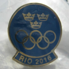 2016 Summer Olympic Sweden Dated NOC Pin
