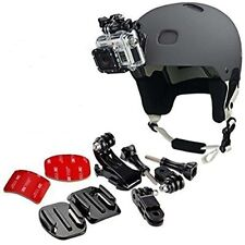 Gopro Helmet Mount Kit Side Front Bike Skateboard Scooter Go Pro Accessories Set
