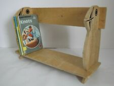 Puffin book trough bookshelf bookstand freestanding collapsible