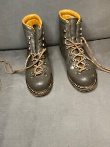 Paraboot Womens Leather Lace Up Combat Boots Gray Silver Size 7.5