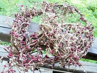 """57"""" strand of primitive red berry decoration christmas craft"""