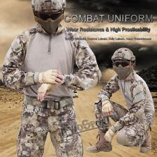 Camouflage Hunting Tactical Clothes Uniform Knee Pad Pants Long Sleeve Shirt Set
