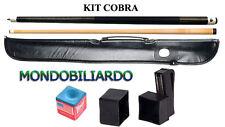 KIT STECCA DA BILIARDO COBRA 103 - CALCIO + PUNTALE - POOL 8-15 - PUNTA 13mm