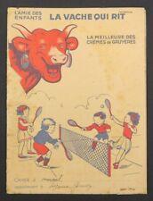 Protège cahier VACHE QUI RIT L'amie des enfants Tennis copybook