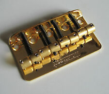 Wilkinson WBBC Bass Bridge Brass Saddles for P Precision P Bass J Jazz Bass Gold