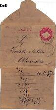 WW208 1894 *EGYPT* Alexandrie Postal Stationery EL Cover samwells-covers}PTS