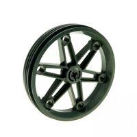 2x Lego Technic Wheel Black 17x43 Rim Alt-Hell Grey Rubber 3634 363426 3482c03