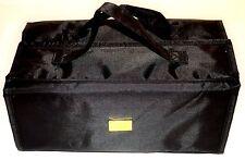 Joy Mangano JM New York Makeup Case Organizer Travel Bag Roll Up Black