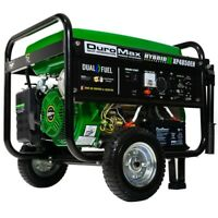 Duromax 4850-W 7-HP Portable Hybrid Dual Fuel Gas Generator with Electric Start