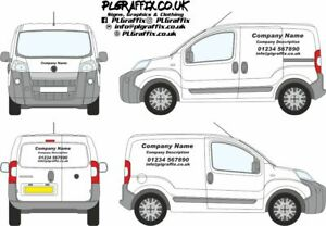 Small Van Sign Writing decal kit vehicle advertisement decal kit vehicle