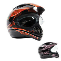 Typhoon Adult Full Face Dual Sport Helmet OffRoad ATV Motorcycle Enduro DOT UTV