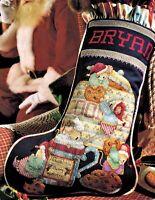 ✔️ COOKIES & MERRY MICE Christmas Stocking Cross Stitch Chart Lorri Birmingham