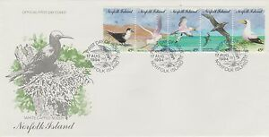 Norfolk Island Birds  Strip of 5 stamps on FDC 1994
