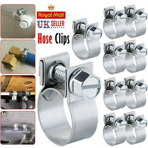 100 Pcs Assorted Stainless Steel Hose Clamp Kit With No Driver Jubilee Clips Set