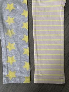 Lot 2: Old Navy Stars And Crewcuts Striped Leggings Size 4 🤩