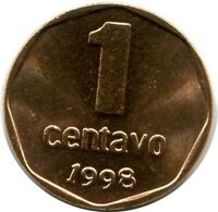 ARGENTINA 1 CENTAVO 1998 UNC #M10119EW