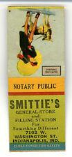 Smittie's General Store Indianapolis Indiana Girlie & Dog Matchbook Ephemera