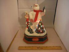 Vintage Coca-Cola Lighted Christmas Moving Polar Bear Multi-Carol Music Box
