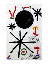 Joan Miro Soleil de Majorque gross Poster Kunstdruck Bild 80x60cm - Portofrei