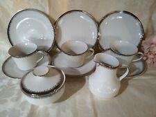 Stunning White Silver 11 Piece Tea Set Winterling Marktleuther Bavaria Perfect