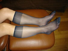 Lot 2 P mi bas men's socks sheer bleu marine Ref Ab01 T-39/46 nylon 15D