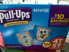 Huggies Boys Training Learning Designs Pull Ups Lot of 10 Pull Ups 4T 5T