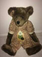 Boyds Bear Corinna Brown Girl Archive Series Retired Jointed Floral Dress & Bow
