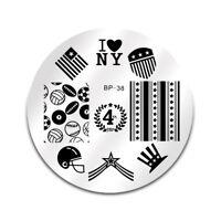 Born Pretty BP38 Nail Art Stamping Image Plate  Stencil American Theme