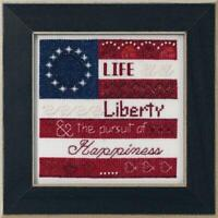 MILL HILL Counted Cross Stitch Kit - PATRIOTIC QUARTET - LIFE, LIBERTY MH17-1914