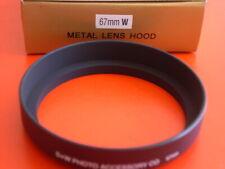 New! Metal Wide Angle 67mm Screw-in Lens Hood