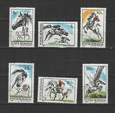 chevaux ROUMANIE 1992 série de 6 timbres oblitérés / T1711