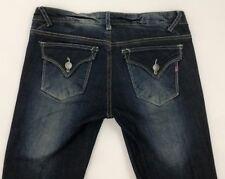 Vigoss size 26 (30 x 29.5) New York Boot Bootcut Dark Blue Jeans Flap Pockets