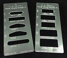 2pc. Electric Guitar Acrylic Pickup Routing Templates - 10 most popular pickups!
