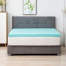 Comfort 3'' King Size Memory Foam Mattress Topper Home Blue