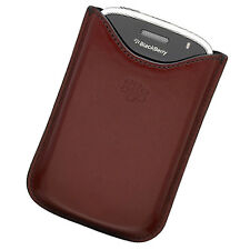 NEW OEM RED LEATHER POCKET Sleeper Pouch Case for Blackberry BOLD 9000 GENUINE