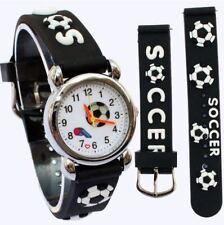 Children's, Niños, Chicos Newcastle Utd. 3D fútbol, diseño de fútbol, deportes reloj