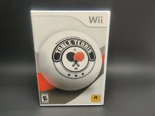 Rockstar Games Table Tennis Nintendo Wii Factory Sealed Free Shipping Sports AC