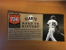 SAN FRANCISCO GIANTS BARRY BONDS 756 HOME RUN ROAD TO HISTORY PIN, SGA, SF